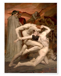 Premium-Poster  Dante und Vergil in der Hölle - William Adolphe Bouguereau