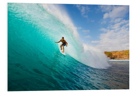 Hartschaumbild  Surfer in Hawaii - MakenaStockMedia