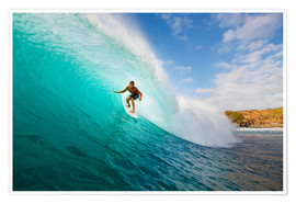 Premium-Poster  Surfer in Hawaii - MakenaStockMedia