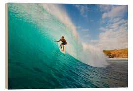 Holzbild  Surfer in Hawaii - MakenaStockMedia