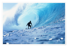 Premium-Poster Surfer in der Pipeline Barrel
