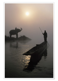 Premium-Poster  Am Rapti-Fluss bei Sauraha - Sean White