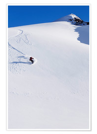 Premium-Poster  Snowboarder in den Chugach Mountains - Dan Bailey