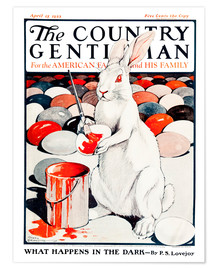 Premium-Poster Cover of Country (Weißer Hase)