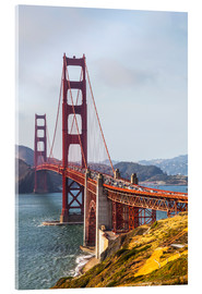 Acrylglasbild  Golden Gate Bridge in San Francisco - Leah Bignell