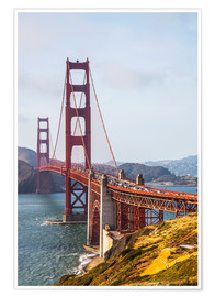 Premium-Poster Golden Gate Bridge in San Francisco