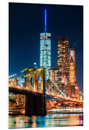 Hartschaumbild  Brooklyn Bridge und World Trade Center - Sascha Kilmer