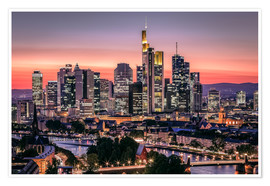 Poster  Skyline Frankfurt am Main Sundown - Frankfurt am Main Sehenswert