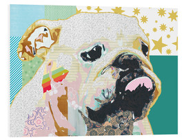 Hartschaumbild  Bulldogge Collage - GreenNest
