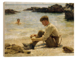 Holzbild  Lawrence als Kadett am Newporth Strand - Henry Scott Tuke