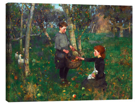 Leinwandbild  Im Obstgarten - Sir James Guthrie