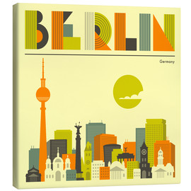 Leinwandbild  Berlin Skyline - Jazzberry Blue