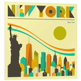Hartschaumbild  New York Skyline - Jazzberry Blue