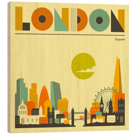 Holzbild  London Skyline - Jazzberry Blue