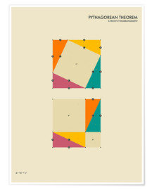 Premium-Poster  Pythagorean Theorem - Jazzberry Blue
