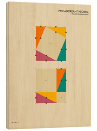 Holzbild  Pythagorean Theorem - Jazzberry Blue