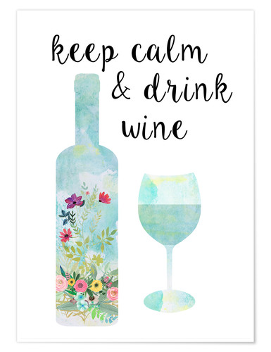 Poster Keep calm & drink wine
