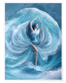 Premium-Poster  Sea dress - Elena Dudina