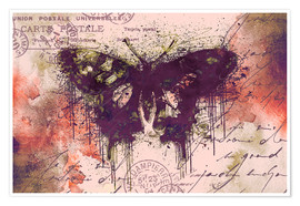 Premium-Poster  Crazy Butterfly - Andrea Haase