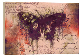 Holzbild  Crazy Butterfly - Andrea Haase