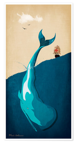 Premium-Poster Moby Dick I