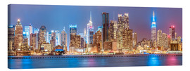 Leinwandbild  New York Neon Colors Skyline - Sascha Kilmer