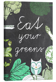 Leinwandbild  Eat your greens - GreenNest
