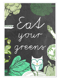Premium-Poster Eat your greens