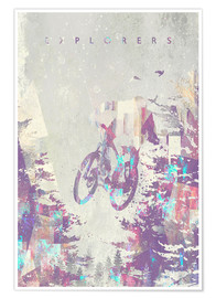 Poster  explorers bike - HappyMelvin