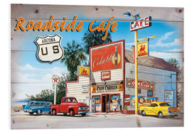 Hartschaumbild  Arizona Roadside Cafe - Georg Huber