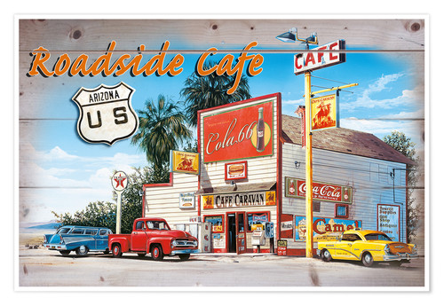 Premium-Poster Arizona Roadside Cafe