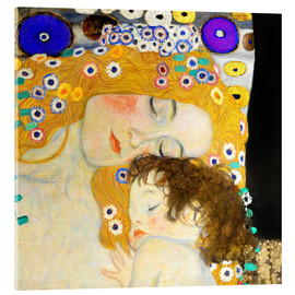 Acrylglas  Mutter mit Kind - Gustav Klimt