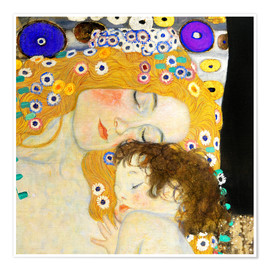 Premium-Poster  Mutter mit Kind - Gustav Klimt