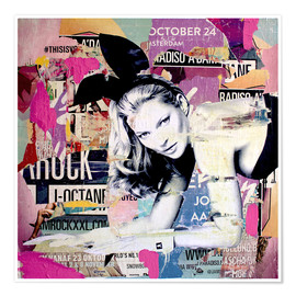 Poster  Kate Moss - Michiel Folkers