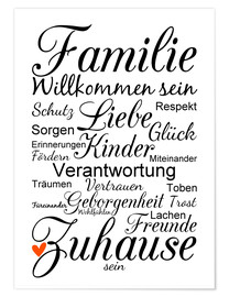 Poster Familie