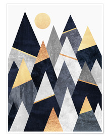 Premium-Poster  Fancy Mountains - Elisabeth Fredriksson