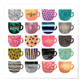 Poster Pretty Coffee Cups