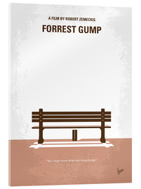 Acrylglas  No193 My Forrest Gump minimal movie poster - chungkong