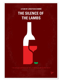 Premium-Poster No078 My Silence of the lamb minimal movie poster