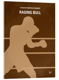 Acrylglas  No174 My Raging Bull minimal movie poster - chungkong