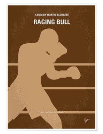 Poster  No174 My Raging Bull minimal movie poster - chungkong