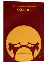 Acrylglas  No178 My Kickboxer minimal movie poster - chungkong