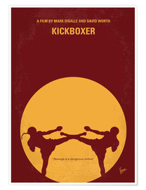 Poster  No178 My Kickboxer minimal movie poster - chungkong