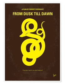 Poster No127 My FROM DUSK THIS DAWN minimal movie poster