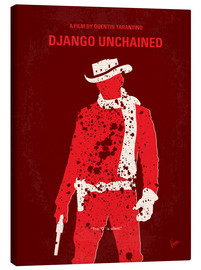 Leinwandbild  No184 My Django Unchained minimal movie poster - chungkong