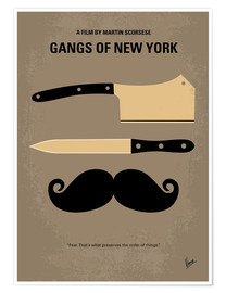 Poster  No195 My Gangs of New York minimal movie poster - chungkong