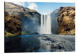 Alubild  Skogafoss Wasserfall - Images Beyond Words