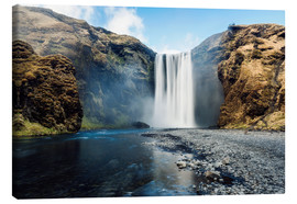 Leinwandbild  Skogafoss Wasserfall - Images Beyond Words