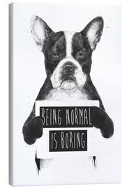 Leinwandbild  Being normal is boring - Balazs Solti