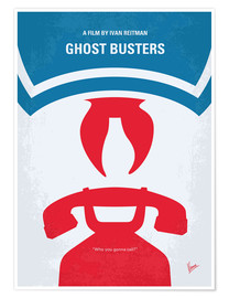 Premium-Poster No104 My Ghostbusters minimal movie poster